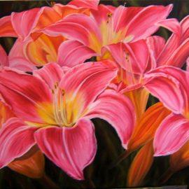 Exuberance (Pink Lilies)